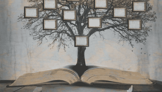 Family tree and book.