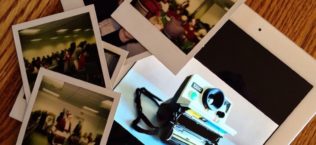 polaroid perservation, cropping polaroids