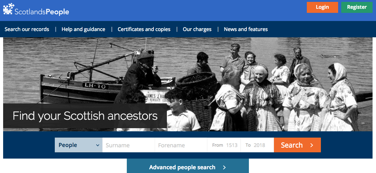 This ScotlandsPeople Guide will help you find records on the site, beginning with a quick search of the home page.