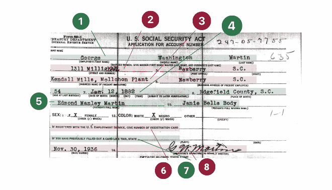 Social Security Application Form SS-5