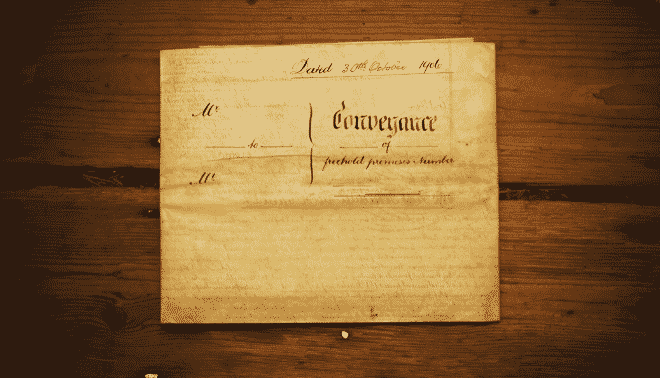 Conveyance document from 1906.