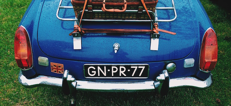 Vintage English car