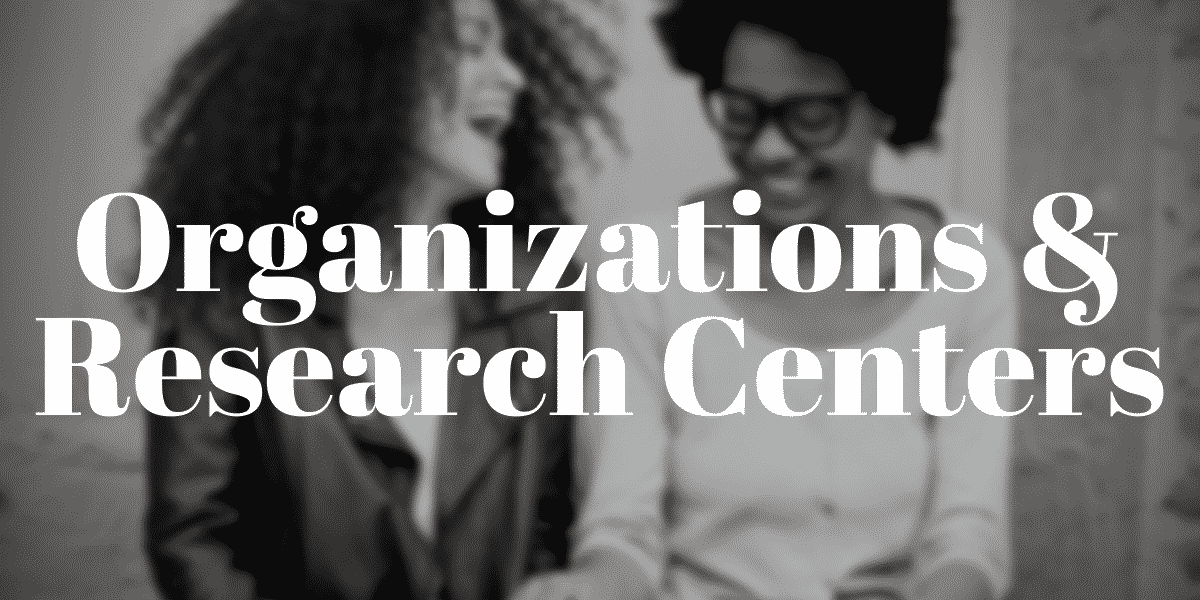 Organizations and Research Centers Section Header