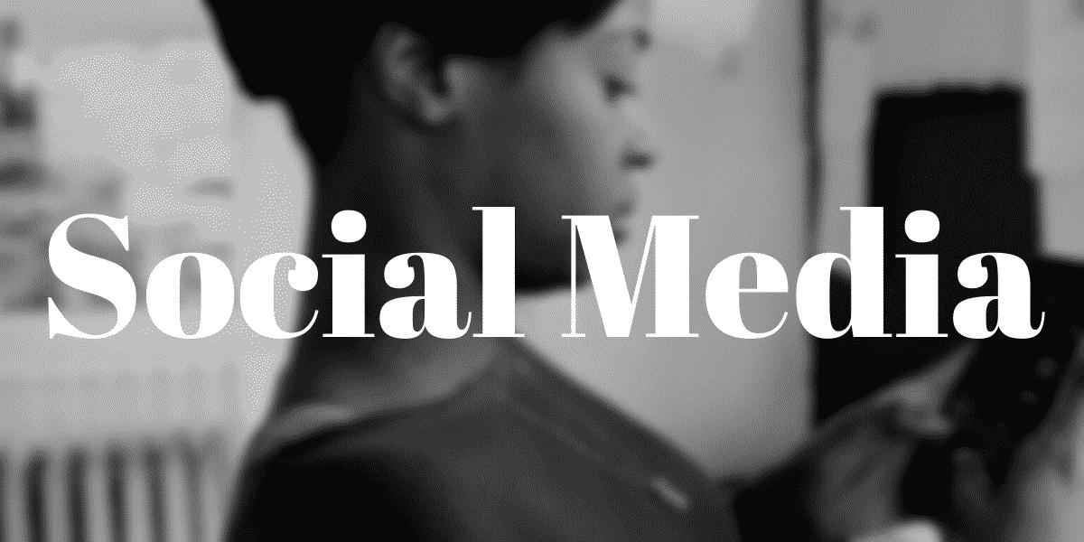 Social Media Section Header