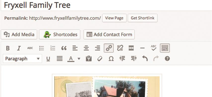 how to build a family history site, how to create genealogy website