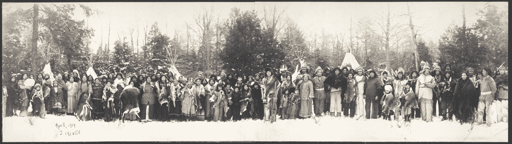 Old photo of the Iroquois Confederacy.