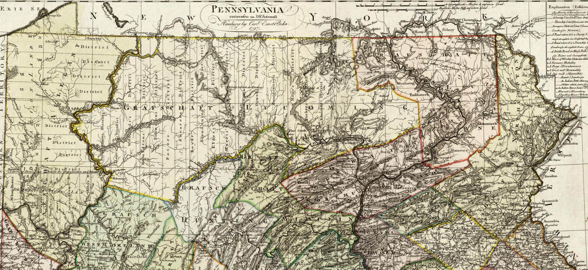 historical map pennsylvania