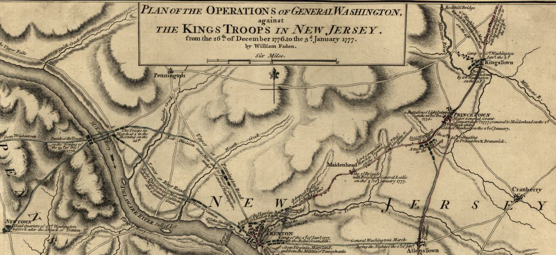 View a crucial skirmish in the Revolutionary War with this Battle of Trenton map.