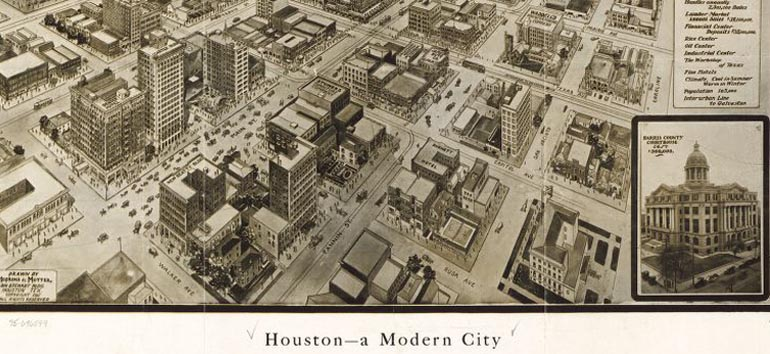 historical map of houston