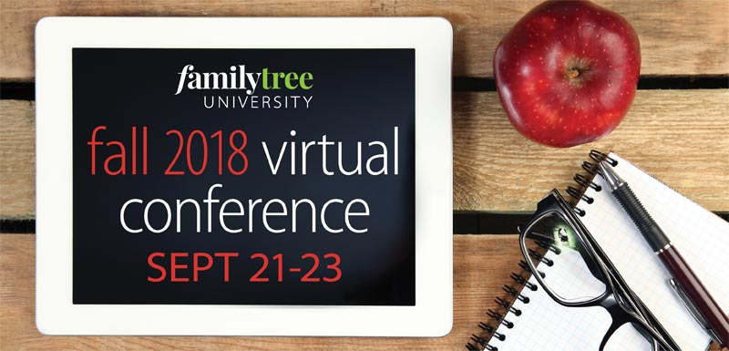 2018 Fall Virtual Genealogy Conference