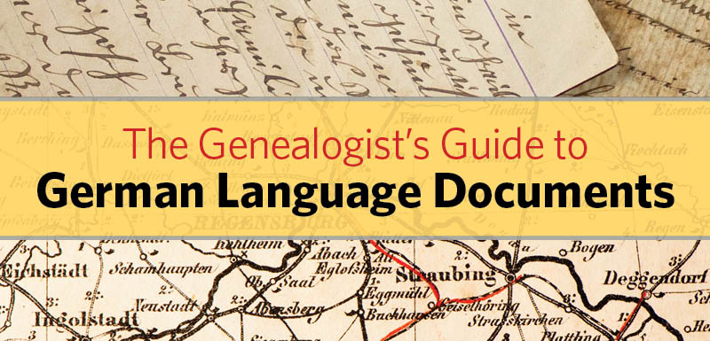 Genealogist's Guide to German Language Documents Online Course