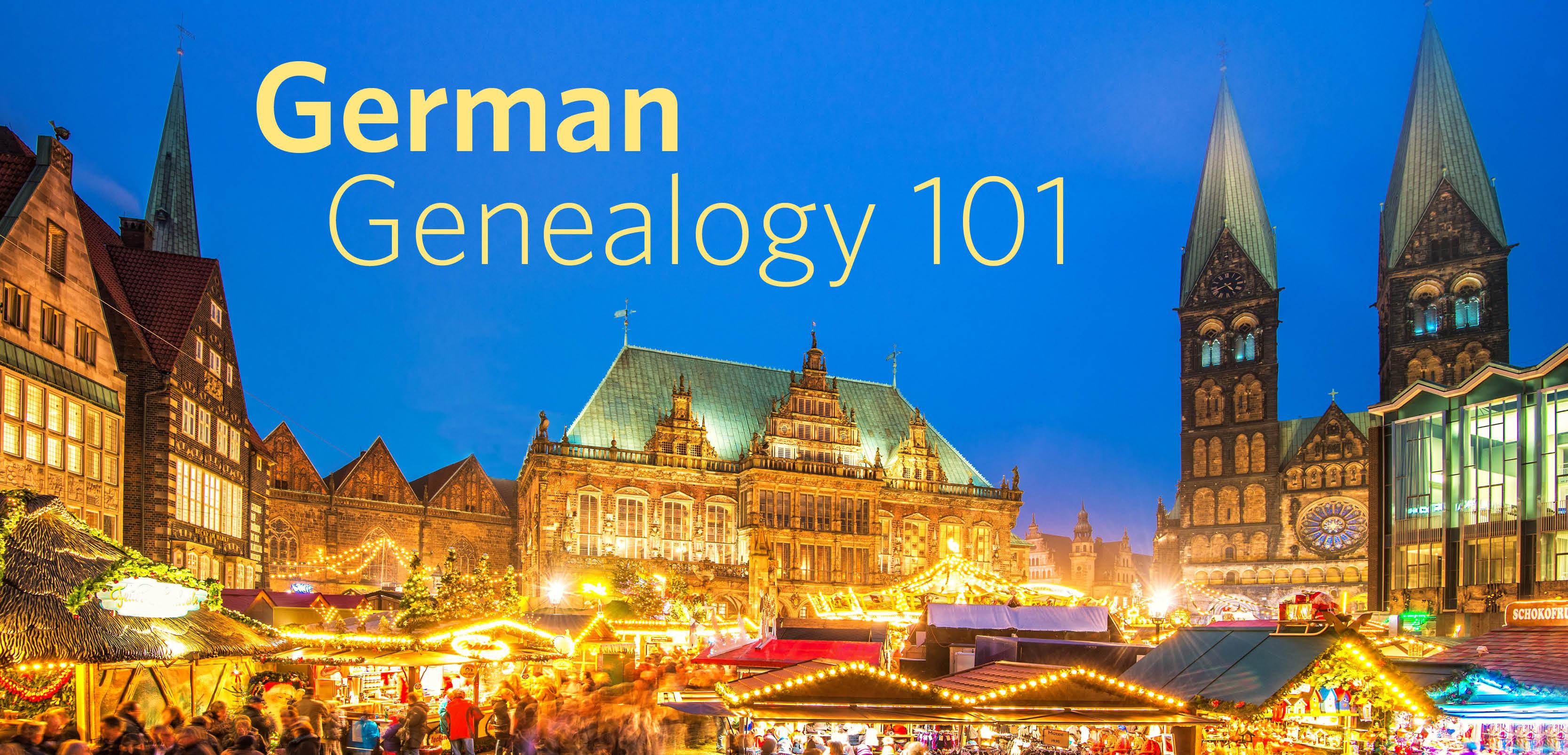 German Genealogy 101