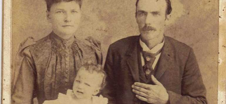 Is there a hidden message in this old family photo?