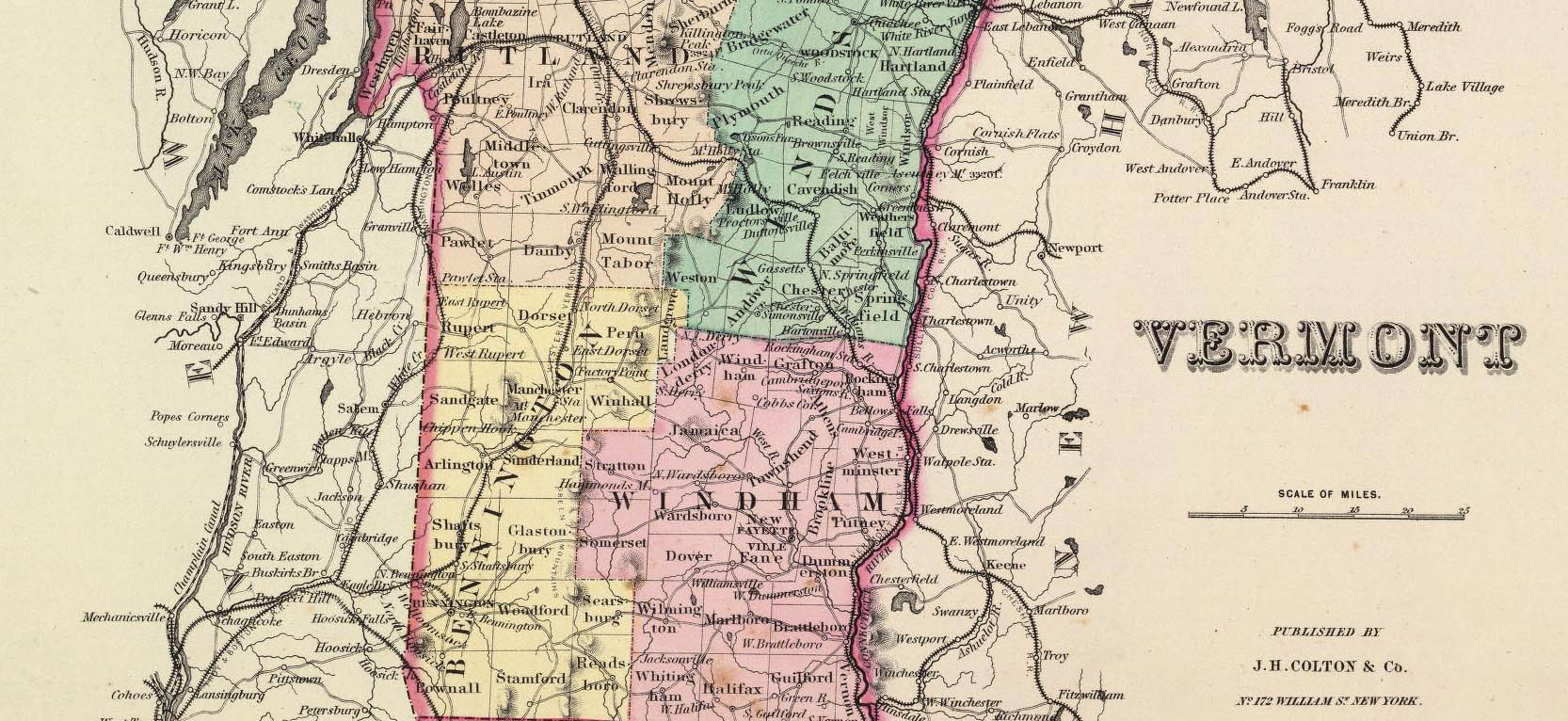 historical map of vermont