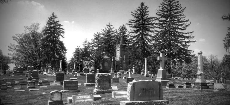 Genealogy research in the cemetery