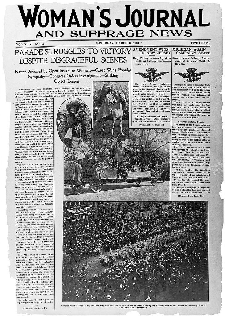newspaper suffrage