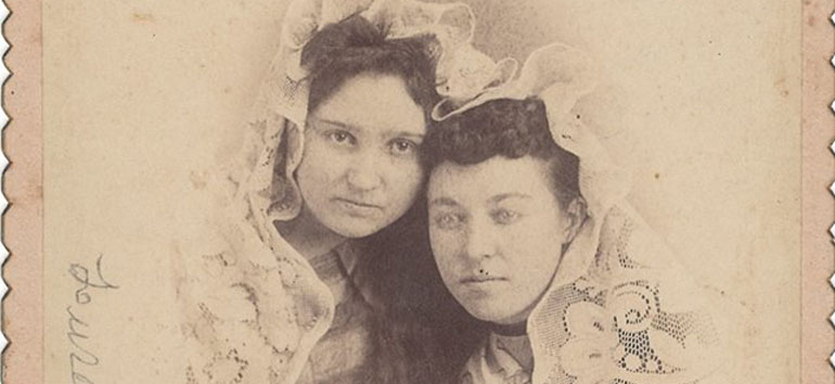 mystery photo of two women