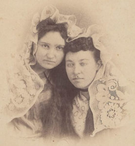mystery photo of two young women