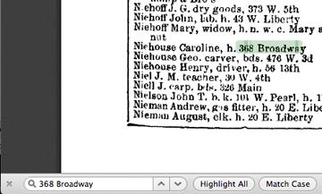 Finding neighbors in city directories.