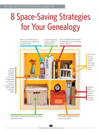 8 Space-Saving Strategies for Your Genealogy