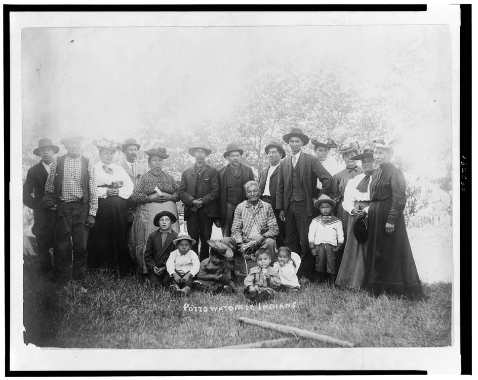 Antique photo of Potawatomie Indians.
