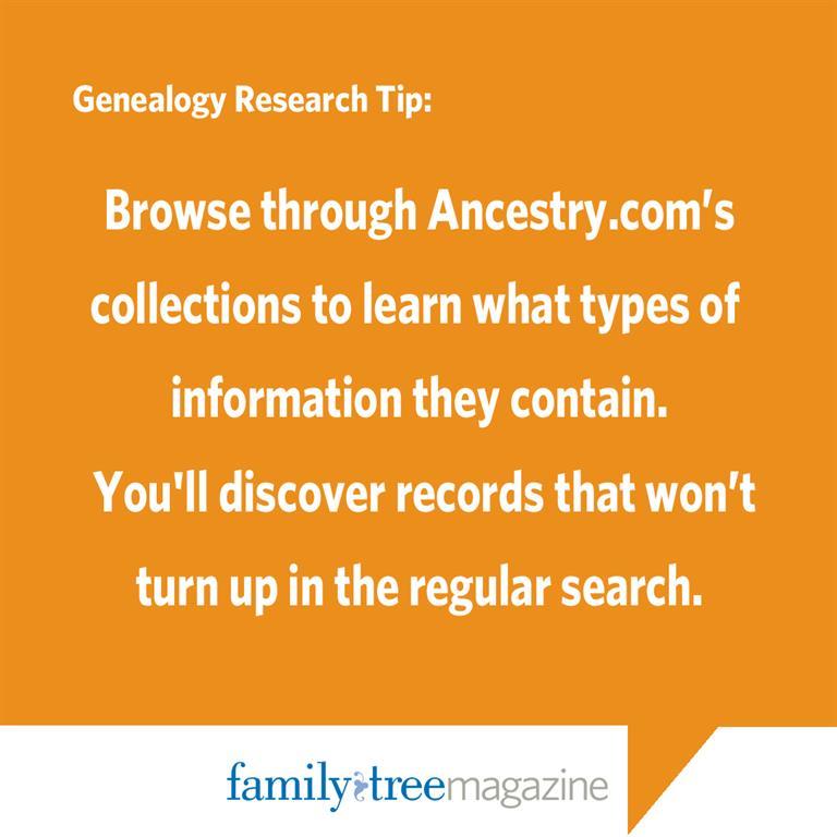 Ancestry.com Tip