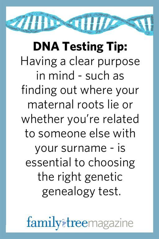 DNA testing tip