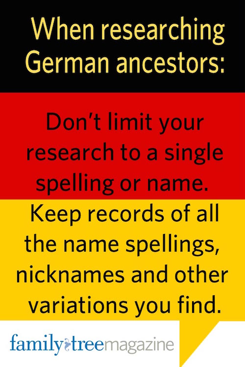 German Ancestry Research Tip