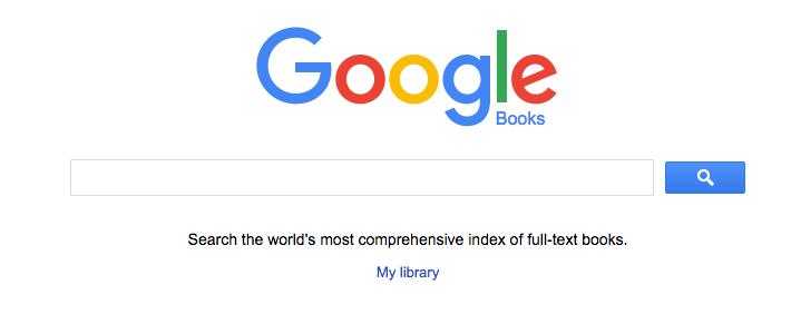 Screenshot: Google Books search bar