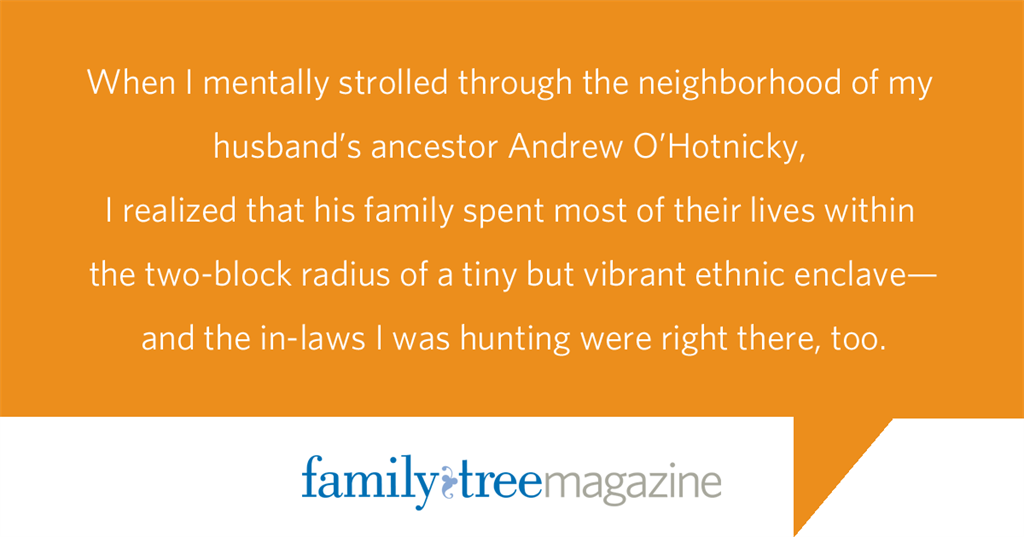 Quote about Neighborhood Heritage from FamilyTreeMagazine.com