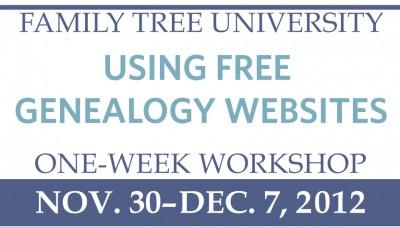 Using Free Genealogy Websites One-Week Workshop
