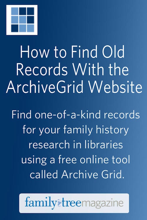 ArchiveGrid Step-by-step