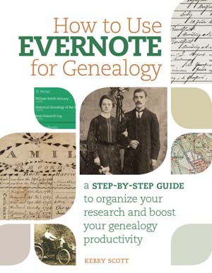 how to use evernote for genealogy, evernote book, genealogy book