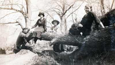 Three Women  Man on Fallen Treeedit.jpg