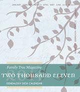 2011 genealogy desktop calendar