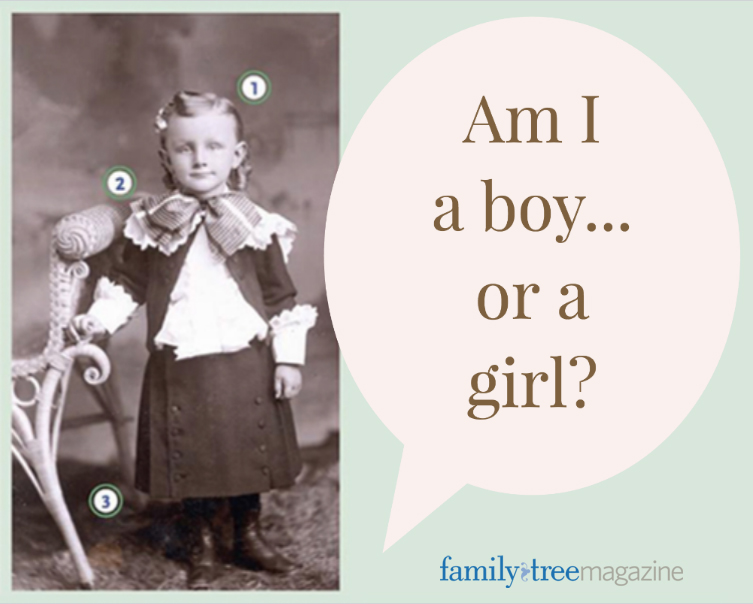 Am I a boy or a girl? Learn how to properly guess your ancestor's gender in an old family photo