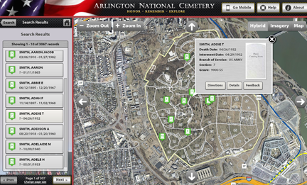 Arlington National Cemetery Launches Burial Database Family Tree