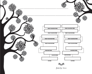 9 divine decorative family trees and theres more where these came this classic tree is the one that comes to mind when people say family tree it makes me think of the gigantic oak in my mom and dads front yard maxwellsz