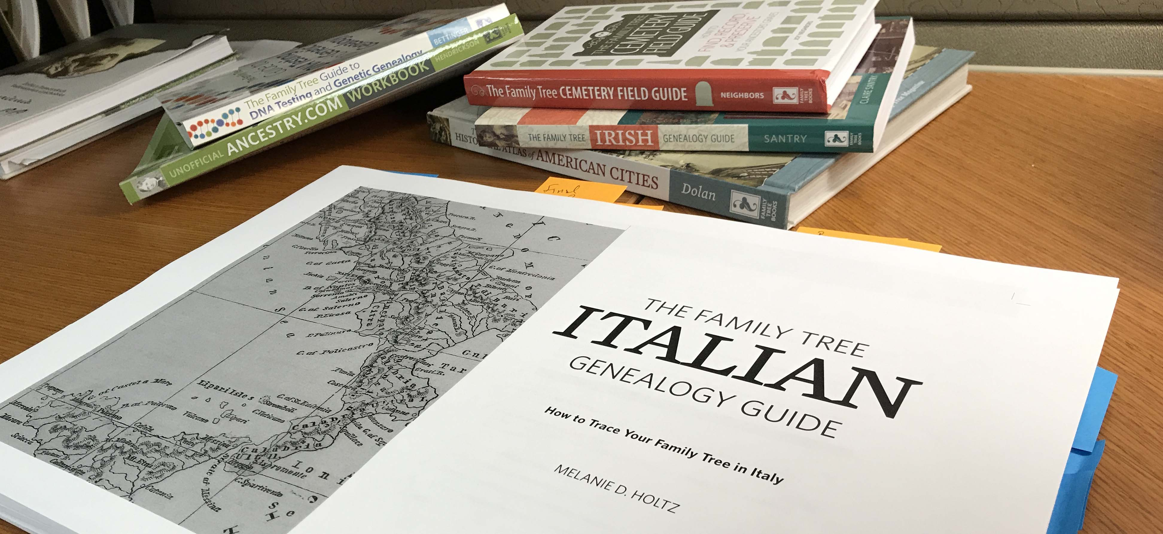 italian guide, genealogy books