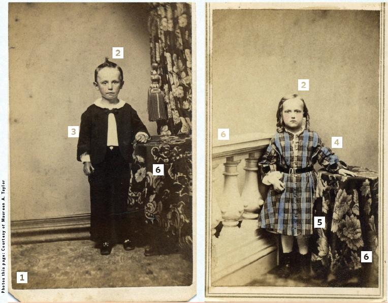 Civil War-era portraits of two young boys.