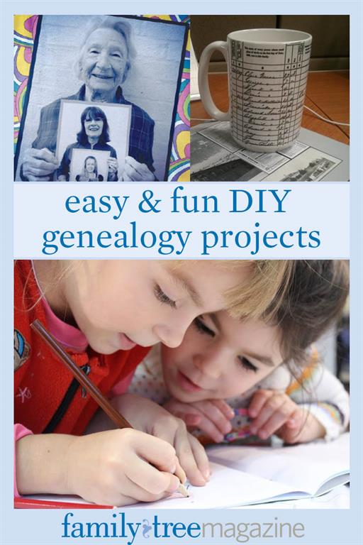 13 DIY Family History Crafts and Gifts from FamilyTreeMagazine.com, the website of America's #1 genealogy magazine