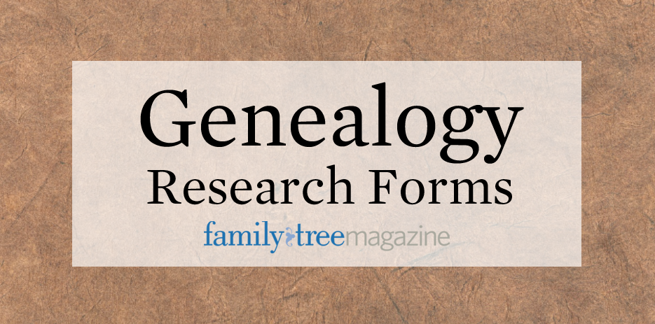 Genealogy Plans And Progress So You Can Research More Efficiently Theyre Great For Tracking Which Records Youve Searched Ones Need To