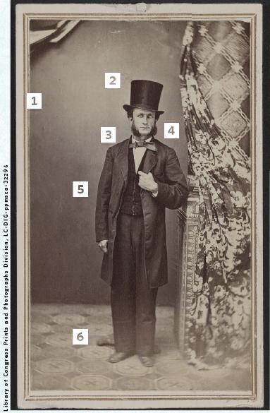 Civil War-era photo of William Lyttle of Fort Wayne, Ind. wearing a tall hat.