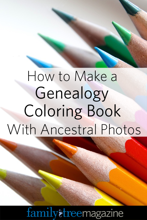 create coloring book genealogy diy how-to