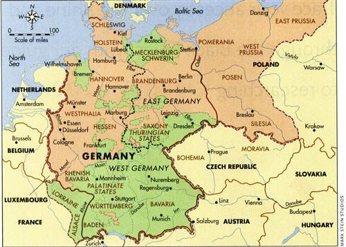 Map Of East Germany And West Germany.How To Trace Your German Genealogy Family Tree