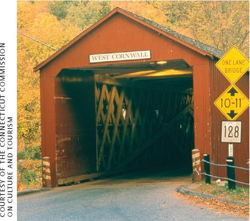 Litchfield County's West Cornwall covered bridge, built in 1841
