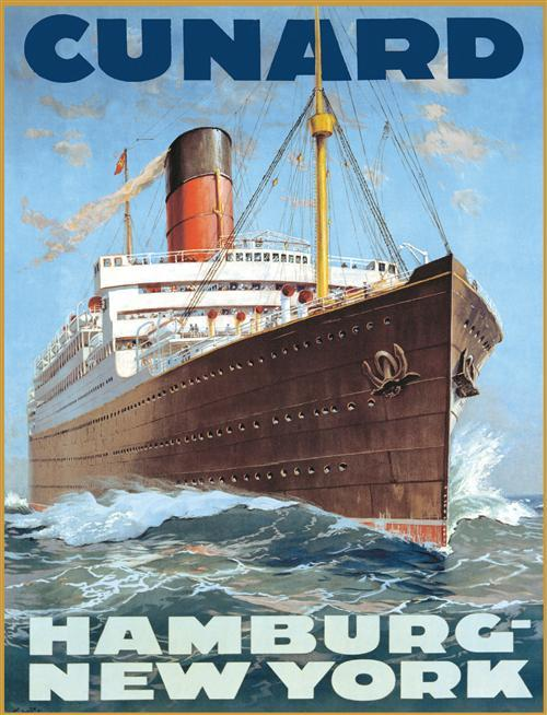 Cunard Line shipping poster