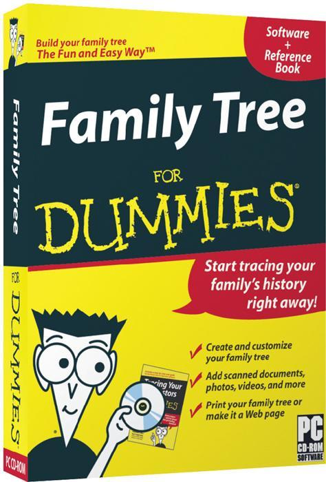Family Tree For Dummies Book And Software Review Family Tree