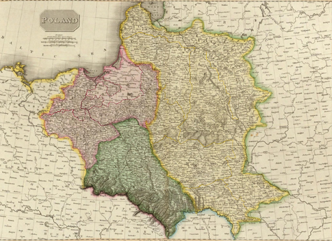 Gaze into Eastern Europe's turbulent history with this partitions of Poland map.