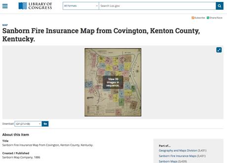 A Sanborn map for Covington, Kentucky.